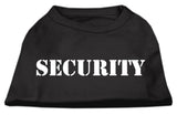 Security Screen Print Shirts Black W/ White Text Lg (14)-Dog Shirts-Pristine Pups