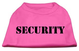 Security Screen Print Shirts Bright Pink W/ Black Text Med (12)-Dog Shirts-Pristine Pups