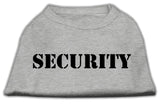 Security Screen Print Shirts Grey W/ Black Text Sm (10)-Dog Shirts-Pristine Pups