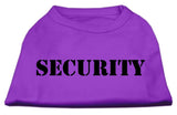 Security Screen Print Shirts Purple W/ White Text Sm (10)-Dog Shirts-Pristine Pups