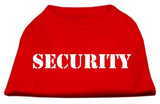 Security Screen Print Shirts Red W/ Black Text Med (12)-Dog Shirts-Pristine Pups
