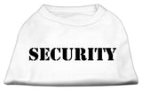 Security Screen Print Shirts White W/ Black Text Med (12)-Dog Shirts-Pristine Pups