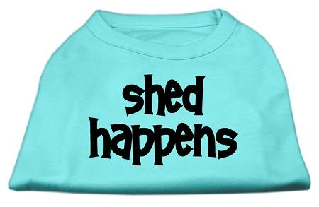 Dog Tshirt Shed Happens Screen Print Shirt Aqua Xxxl (20)-Dog Shirts-Pristine Pups