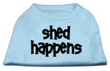 Shed Happens Screen Print Shirt Baby Blue Lg (14)-Dog Shirts-Pristine Pups