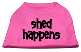 Dog Shirt Shed Happens Screen Print Shirt Bright Pink Xl (16)-Dog Shirts-Pristine Pups