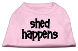 Dog Shirt Shed Happens Screen Print Shirt Light Pink Med (12)-Dog Shirts-Pristine Pups