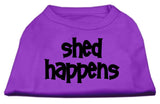 Dog Shirt Shed Happens Screen Print Shirt Purple Med (12)-Dog Shirts-Pristine Pups