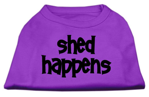 Dog Shirt Shed Happens Screen Print Shirt Purple Xl (16)-Dog Shirts-Pristine Pups