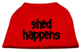 Dog Shirt Shed Happens Screen Print Shirt Red Med (12)-Dog Shirts-Pristine Pups