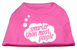 Smarter Then Most People Screen Printed Dog Shirt Bright Pink Xxl (18)-Dog Shirts-Pristine Pups