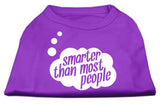 Smarter Then Most People Screen Printed Dog Shirt Purple Xs (8)-Dog Shirts-Pristine Pups