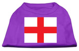 St. George'S Cross (English Flag) Screen Print Shirt Purple Med (12)-Dog Shirts-Pristine Pups