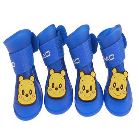 Waterproof pet rain boots Candy Colors Rubber-Pristine Pups