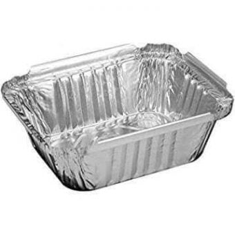 1 LB. Oblong Aluminum Foil Pan Heavy-1000/Case - Paper Supplies Plus