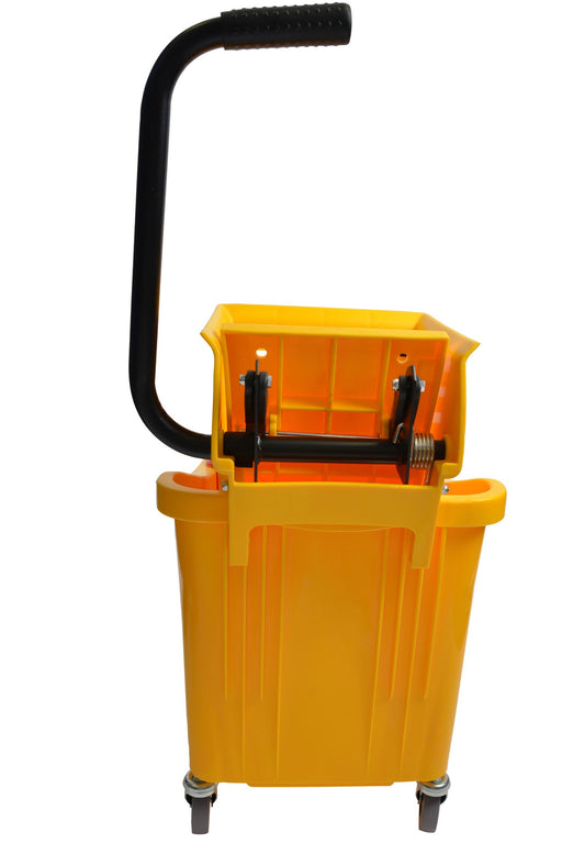 36 Qt Yellow Mop Bucket With Side Press Wringer - Paper Supplies Plus