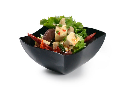 16 oz. Wave-trend Square Salad Bowl (80/CS) - Paper Supplies Plus