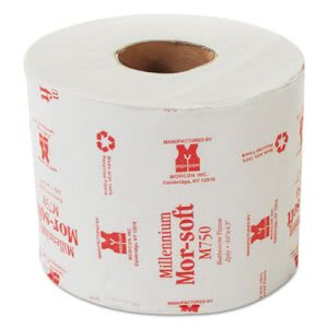Morcon Paper M750 Morsoft Millennium Bath Tissue, 2-Ply, Individually Wrapped, White, 750 per Roll (Pack of 48) - Paper Supplies Plus