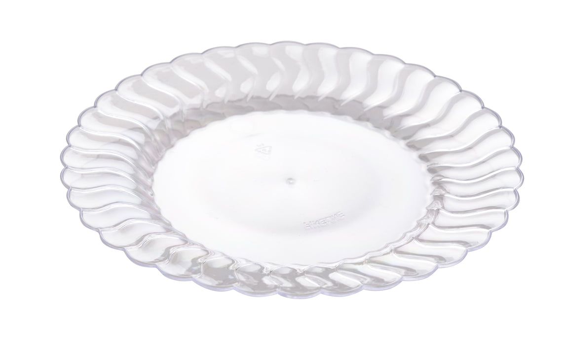 "7 1/2"" Plastic Plate (Fineline Flairware Collection)- 180/CS - Paper Supplies Plus"