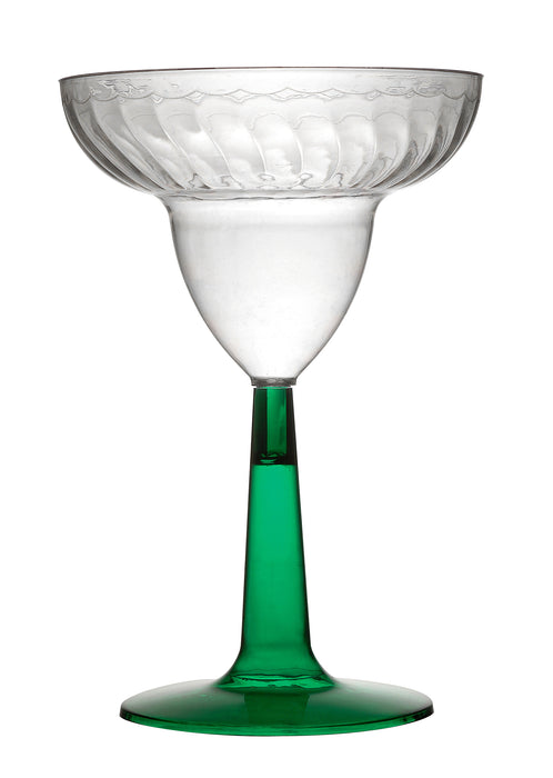 12 oz. MARGARITA GLASS with Green Base (96/CS) - Paper Supplies Plus