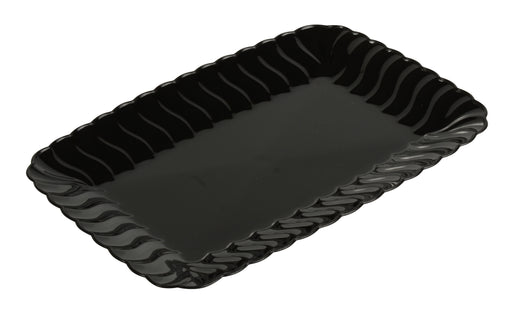 "5""x7"" SNACK TRAY - 252/CS (Black, White, Clear, & Bone) - Paper Supplies Plus"
