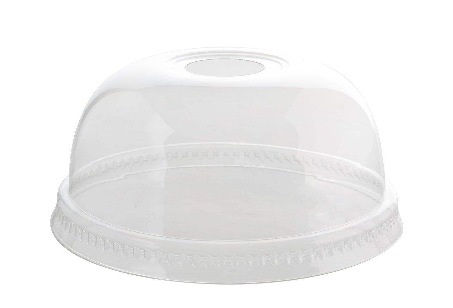 78MM PETE Dome Lid w/Hole (1000/CS) - Paper Supplies Plus