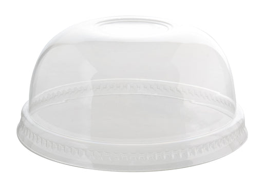 98MM PETE Dome Lid no Hole (1000/CS) - Paper Supplies Plus