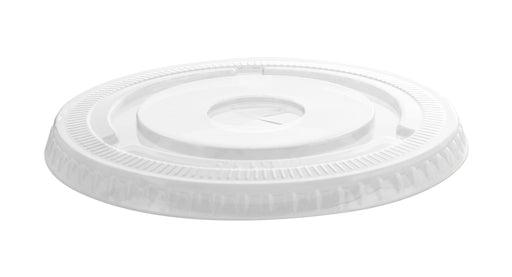 98MM PETE Flat Lid w/Slot (1000/CS) - Paper Supplies Plus