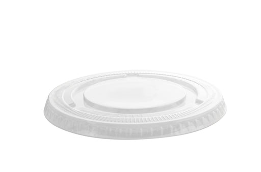 98MM PETE Flat Lid no Slot (1000/CS) - Paper Supplies Plus