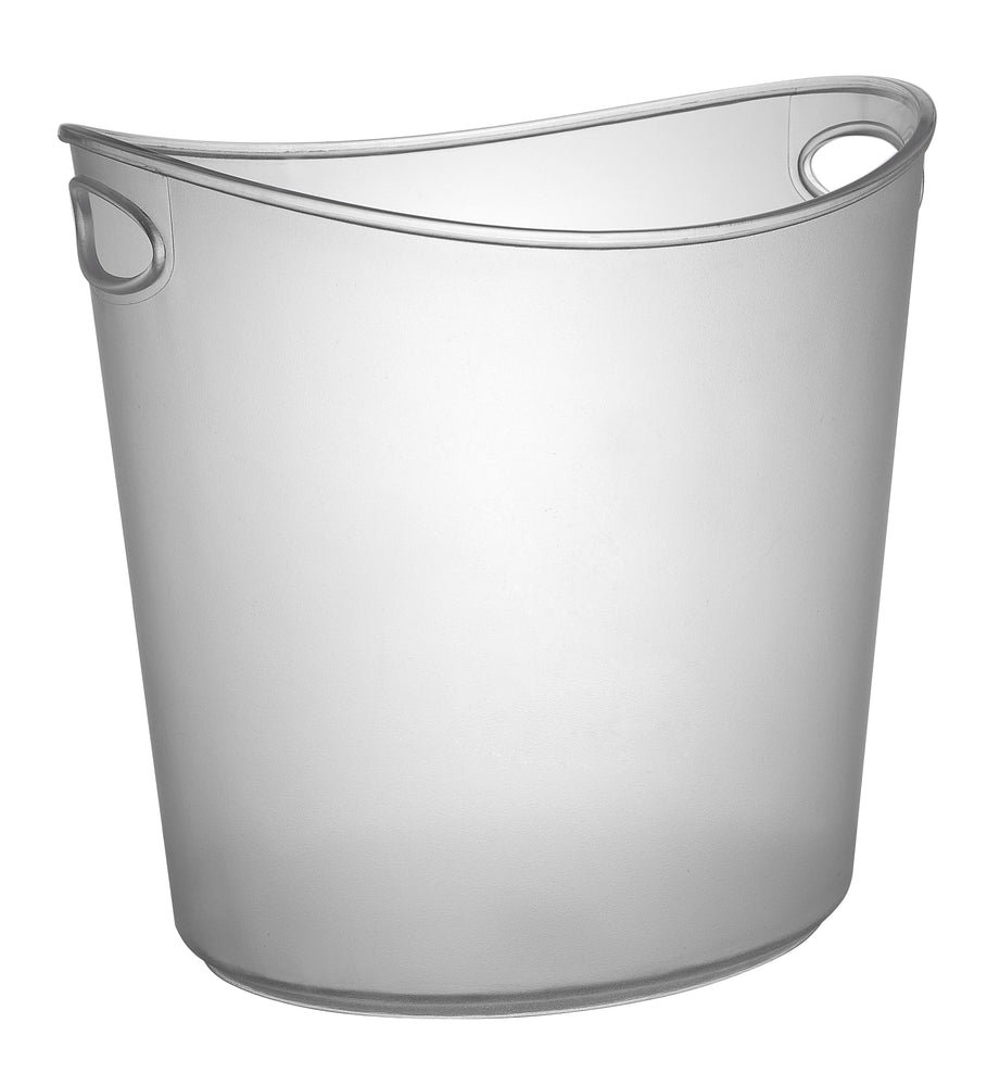 1 GALLON OVAL ICE BUCKET, CLEAR (6 BUCKETS/CASE) - Paper Supplies Plus