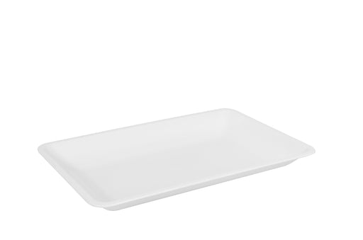 "10"" X 8"" RECTANGULAR TRAY-25/CS (Black, White, & Clear) - Paper Supplies Plus"