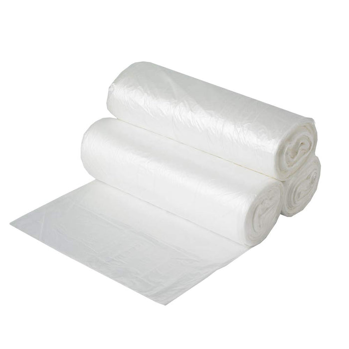 FREE SHIPPING Aluf Plastics 7-8 Gallon Clear Trash Bags (250 Count) - 24' x 24' - 6 Micron Equivalent High Density