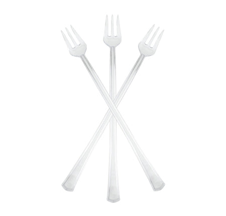 "6"" Cocktail Forks (Clear)-400/CS - Paper Supplies Plus"