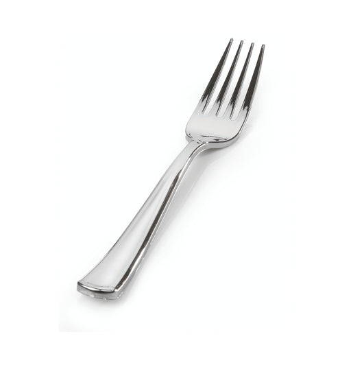 "Heavy Weight Silver Forks (7.5"")-600/CS - Paper Supplies Plus"