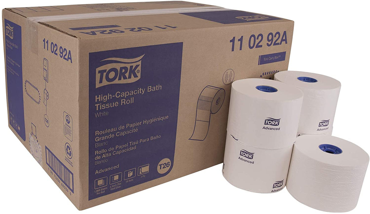 Tork 110292A Advanced High Capacity Bath Tissue Roll (36 Rolls) - Paper Supplies Plus