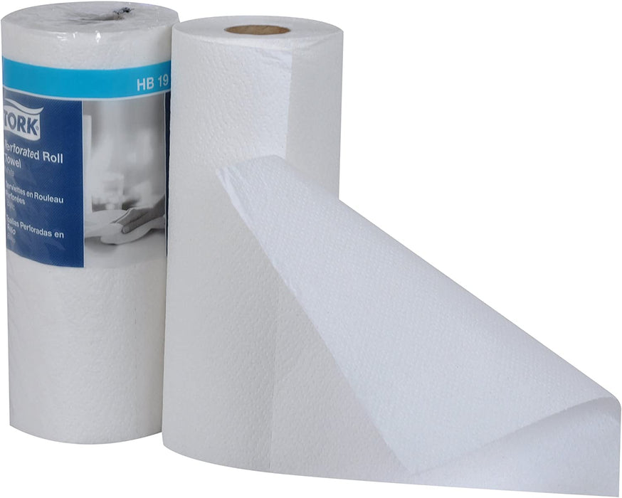 "Tork HB1990A Perforated Paper Roll Towel, 2-Ply, 11"" Width x 9"" Length, White (Case of 30 Rolls, 84 per Roll, 2,520 Towels) - Paper Supplies Plus"