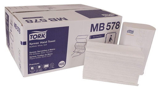 Tork Advanced MB578 White Multifold Hand Towel (2,160/CS) - Paper Supplies Plus
