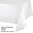 Creative Converting 54 X 108 White Rectangular Disposable Plastic Table Cover - 12/Case