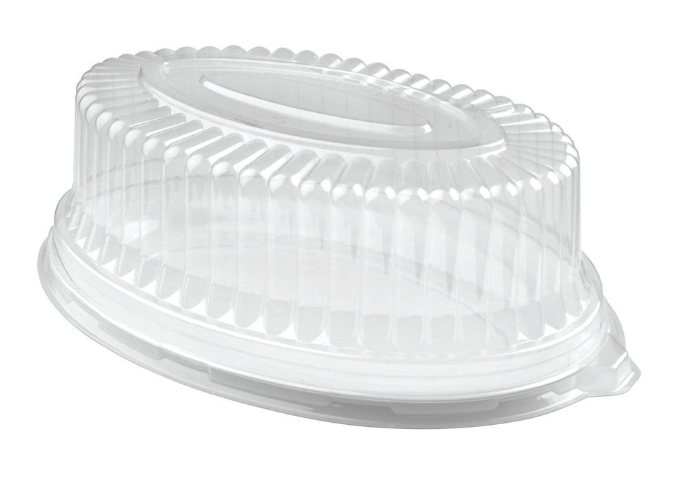 "14"" × 21"" Oval Dome Lid (40/CS) - Paper Supplies Plus"