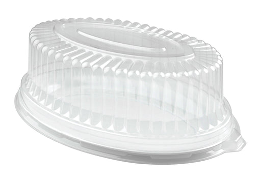 "8"" × 12"" Oval Dome Lid (50/CS) - Paper Supplies Plus"