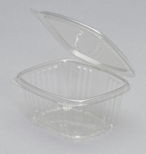 16 oz. Clear Hinged Deli Container, AD16 (200/CS) - Paper Supplies Plus