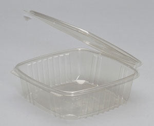 48 oz. Clear Hinged Deli Container (200/CS) - Paper Supplies Plus