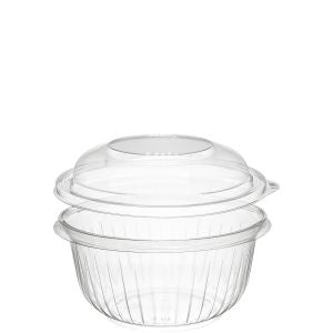 Dart C16BCD PresentaBowls 16 oz. Clear Plastic Bowl with Dome Lid (252/CS) - Paper Supplies Plus