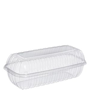 Dart C99HT1 Hoagie ClearSeal Clear Hinged Lid Plastic Container (200/CS) - Paper Supplies Plus