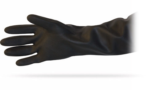 Black Heavy Duty Unlined Latex Gloves (72 Pairs) - Paper Supplies Plus
