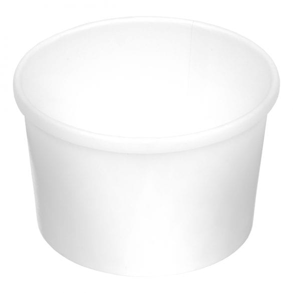8 oz. Soup Cup Bottom Only– Plain (500 Per Case)