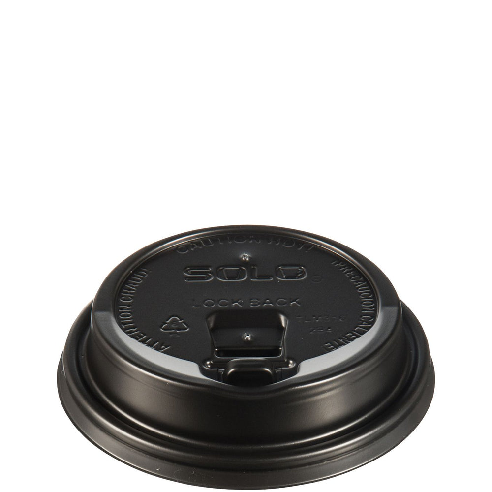 Solo LK316B: Reclosable Lid with Sip Hole - Black - Black (1000/CS)
