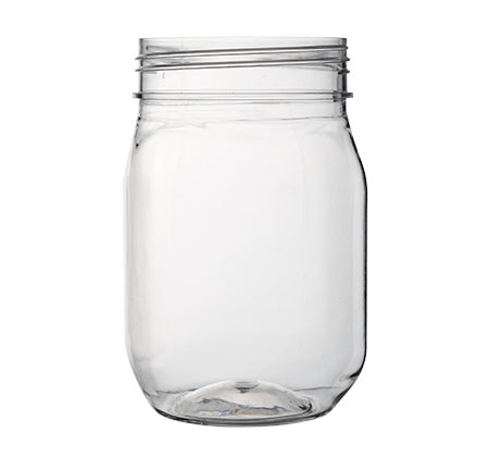 16 oz. Mason Jar, PETE-PLASTIC  (64 JARS) - Paper Supplies Plus