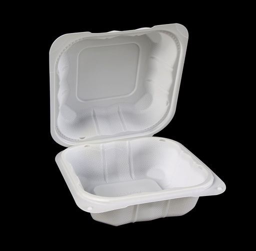 "6"" X 6"" Mineral-Filled Polypropylene Hinged Container (250/CS)"