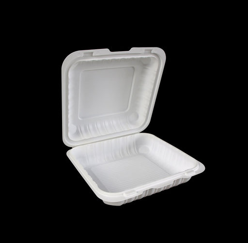 "8"" X 8"" Mineral-Filled Polypropylene Hinged Container (150/CS)"