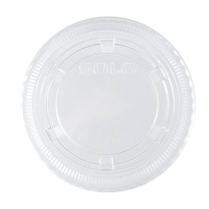 Dart 4oz Large Plastic Portion Cup Lid - Clear (2,500/CS) - Paper Supplies Plus